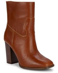 Splendid - Nero Square-toe Leather Ankle Boots - Lyst