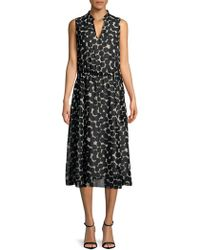 Jones New York - Printed Fit-and-flare Midi Dress - Lyst