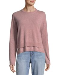 INHABIT - Double Crew Cashmere Sweater - Lyst