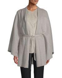 Loro Piana - Anversa Cashmere, Leather & Mink Fur Cape - Lyst