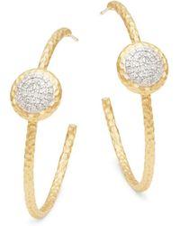 Phillips House - Affair 14k Yellow Gold & Diamond Hoop Earrings - Lyst