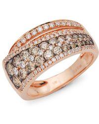 Le Vian - Red Carpet® Chocolate Diamonds® And Vanilla Diamonds® 14k Strawberry Gold® Ring - Lyst