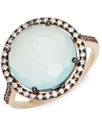 Suzanne Kalan - White Sapphire, Chalcedony And 14k Yellow Gold Ring - Lyst