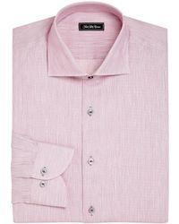 Saks Fifth Avenue - Collection Regular-fit Cotton & Linen Pinstriped Dress Shirt - Lyst