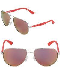 PUMA - 59mm Aviator Sunglasses - Lyst