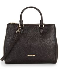 Love Moschino - Logo Embossed Tote - Lyst