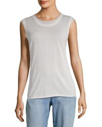 Autumn Cashmere - Raw-edge Cotton Muscle Tee - Lyst