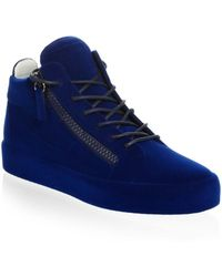 Giuseppe Zanotti - Velvet Spray High-top Sneakers - Lyst
