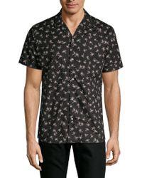 Slate & Stone - Palm Tree Print Short-sleeve Camp Shirt - Lyst