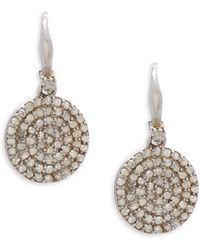 Bavna - Pavé Diamond & Sterling Silver Drop Earrings - Lyst