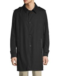 The Kooples - Technical Cotton Topcoat - Lyst
