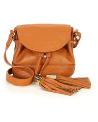 See By Chloé - Vicki Pebble Leather Flap Bucket Bag - Lyst
