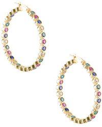 Gabi Rielle - Multi-colored Crystal Hoop Earrings - Lyst