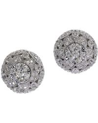 Effy - Snowflake Diamond And 14k White Gold Stud Earrings, 0.54tcw - Lyst