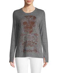 Zadig & Voltaire - Source Skull Intarsia Wool-blend Jumper - Lyst