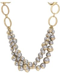 Saachi - Half-moon Faux-pearl Necklace - Lyst
