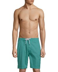 Trunks Surf & Swim - Swami Topstitched Board Shorts - Lyst