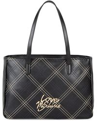 Love Moschino - Striped Logo Tote - Lyst