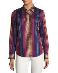 Robert Graham - Stripe Cotton Button-down Shirt - Lyst