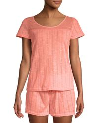 Tahari - Two-piece Pointelle Pajama Set - Lyst