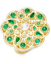 Temple St. Clair - Cl Color 18k Yellow Gold Mosaic Statement Ring - Lyst