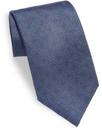 Saks Fifth Avenue - Box Printed Silk Tie - Lyst