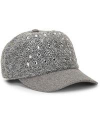 120c1d49fca San Diego Hat Company - Boucle Beweled Baseball Cap - Lyst