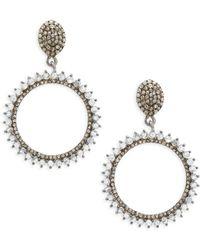 Bavna - Champagne Diamond, Rainbow Moonstone & Sterling Silver Champ Rose Earrings - Lyst