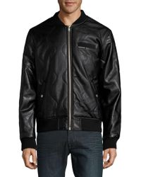 Members Only - Patterned Bomber Jacket - Lyst