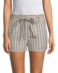 Sanctuary - Striped Linen-blend Shorts - Lyst