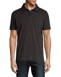 Saks Fifth Avenue - Short-sleeve Printed Cotton Polo - Lyst
