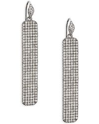 Bavna - Textured Diamond And Sterling Silver Drop Earrings - Lyst