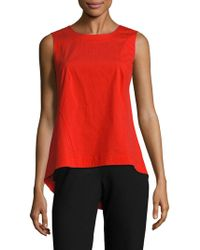 Lafayette 148 New York - Melina Solid Asymmetric Roundneck Top - Lyst