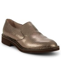 Brunello Cucinelli - Casual Metallic Leather Loafers - Lyst