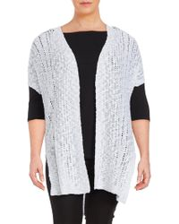 Vince Camuto - Plus Long Open-front Cardigan - Lyst