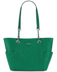 Calvin Klein - Key Item Saffiano Leather Tote - Lyst