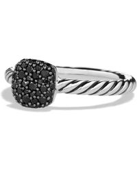 David Yurman - Petite Pavé Diamond Cushion Ring - Lyst