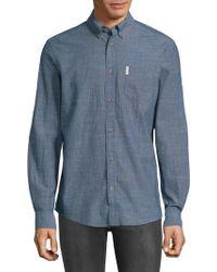 Ben Sherman - Woven Cotton Button-down Shirt - Lyst