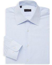 Ike Behar - Checkered Long-sleeve Dress Shirt - Lyst