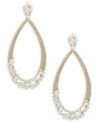 Adriana Orsini - Crystal Drop Earrings - Lyst