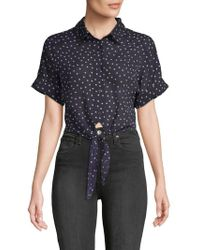 Lucca Couture - Vera Polka Dot Cotton Button-down Shirt - Lyst