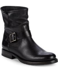Frye - Natalie Engineer Leather Moto Boots - Lyst