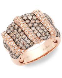 Le Vian - Chocolatier 14k Strawberry Gold, Chocolate Diamond & Vanilla Diamond Band Ring - Lyst