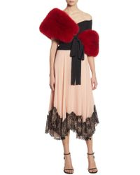 Cinq À Sept - Kaya Lace-hem Pleated Skirt - Lyst