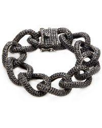 Arthur Marder Fine Jewelry - Silver & Black Spinel Chain Bracelet - Lyst