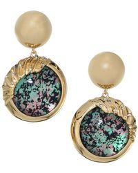 Alexis Bittar - Lucite Swarpvslo Crystal & 10k Yellow Gold Sculptural Sphere Dangling Drop Earrings - Lyst