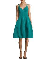 J. Mendel - Faille Zippered Silk Dress - Lyst