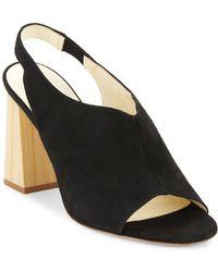 Bettye Muller - Posh Leather Slingback Sandals - Lyst