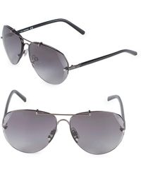 Swarovski - 64mm Crystal Aviator Sunglasses - Lyst