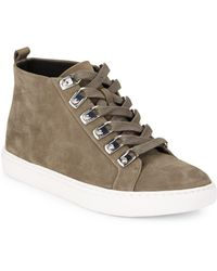 Kenneth Cole - Kale Nubuck Leather Hi-top Trainers - Lyst